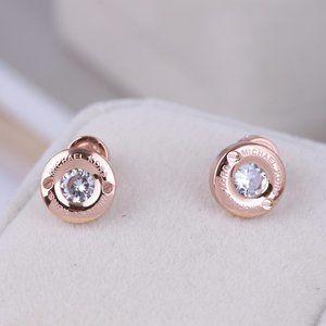 Michael Kors Classic Zircon Round Stud Earrings